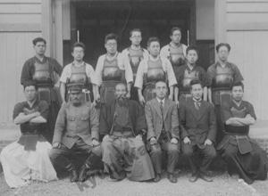 徳島高等工業学校剣道部(現在の徳島大学工学部)での写真1